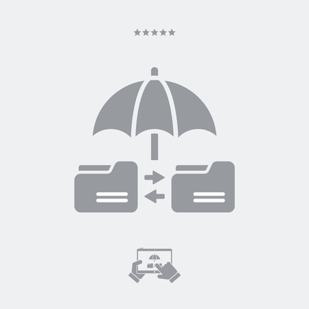 data archiving: Secure data transfer - Minimal vector icon