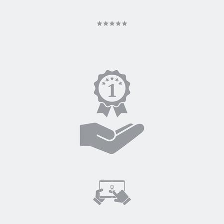 winning proposal: Top rating award - Minimal modern icon