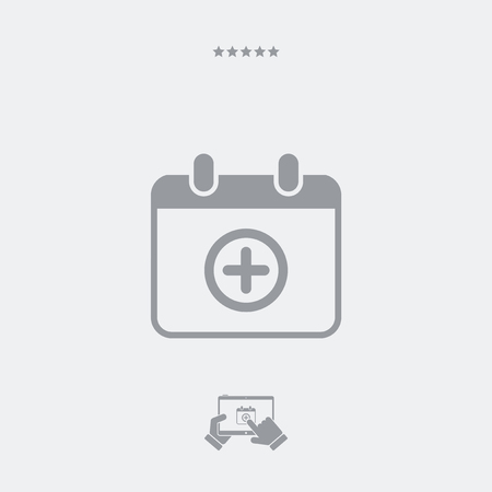 Add new appointment on calendar - Minimal vector icon