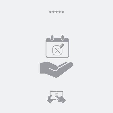 appointment: Appointment date check - Minimal vector icon Illustration