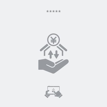 money transfer: Money transfer services - Yen - Minimal icon