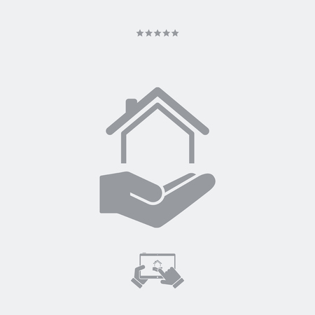 residential: Residential services - Minimal icon Illustration