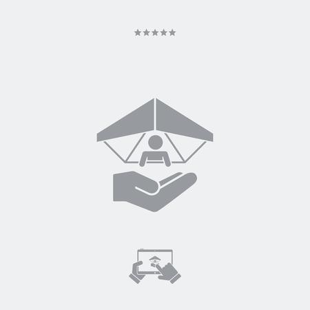 para: Hang glider concept - Minimal vector icon Illustration