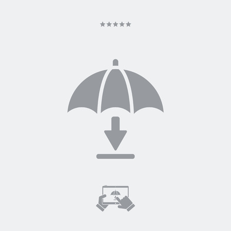 certainty: Download protected - Minimal vector icon Illustration