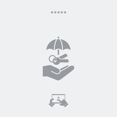 inaccessible: Protected access - Minimal vector icon Illustration