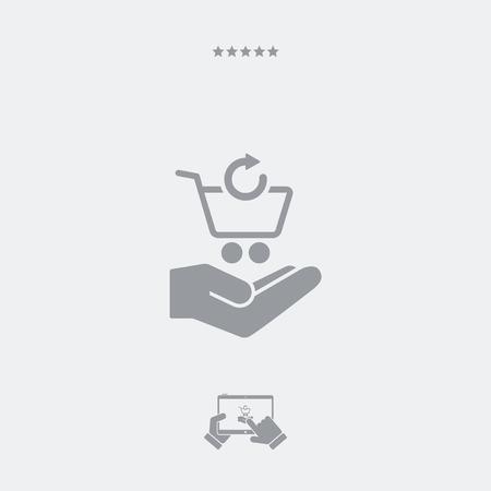 ショッピングカート - 最小限のモダンなアイコンを更新します。  イラスト・ベクター素材