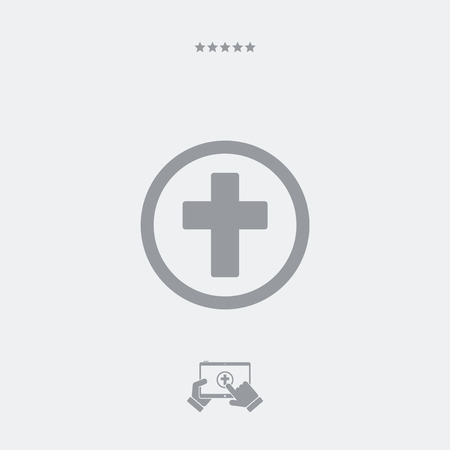 funerary: Religious services concept - Minimal flat icon