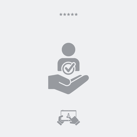 approve icon: Approve contact request - Minimal modern icon