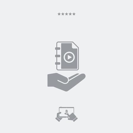 multimedia: Multimedia playlist - Minimal icon
