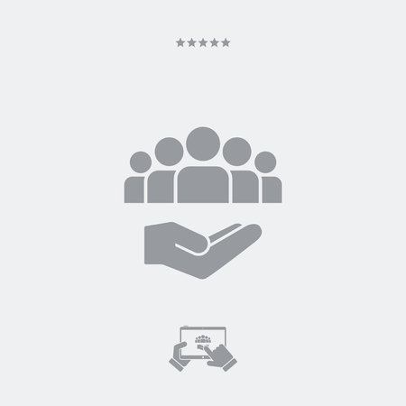 mutual assistance: Service offer - Community service - Minimal icon