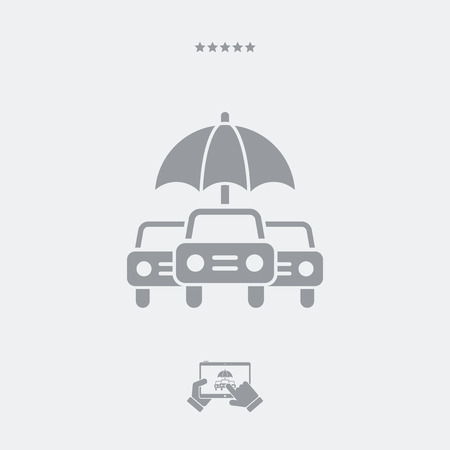 safeness: Car protection - Minimal vector icon