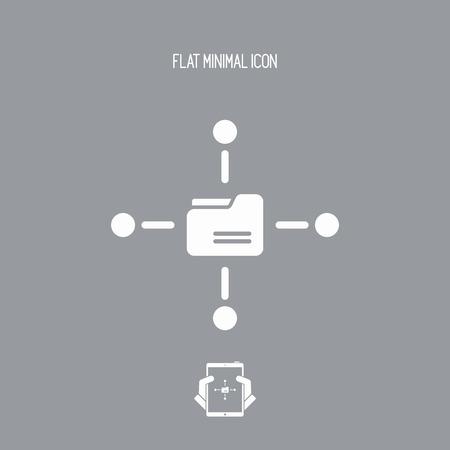 shared: Shared folder vector icon