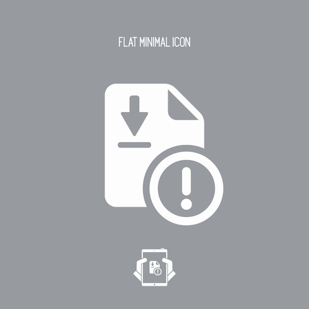 fallacy: File dowload error - Flat minimal icon