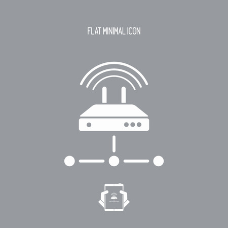 network router: Router network - Flat minimal icon