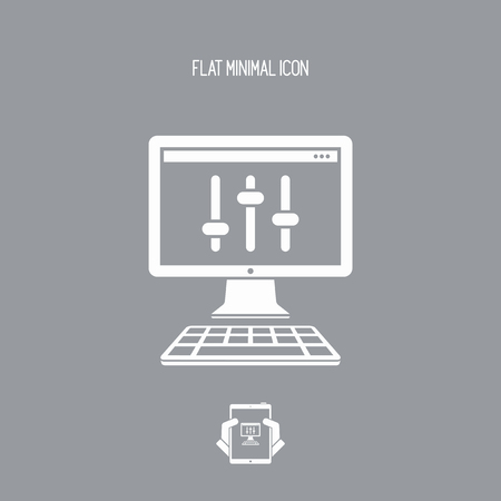 jay: Levels control - Vector flat minimal icon Illustration