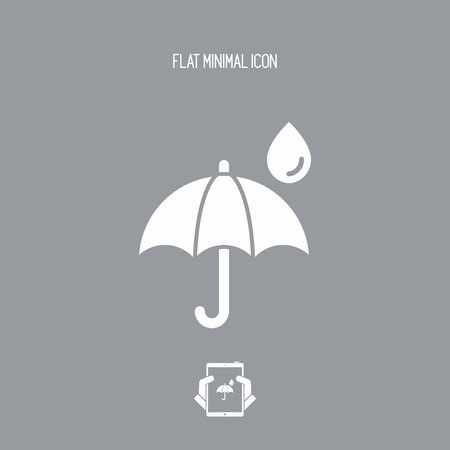 refuge: Umbrella - Minimal vector icon Illustration
