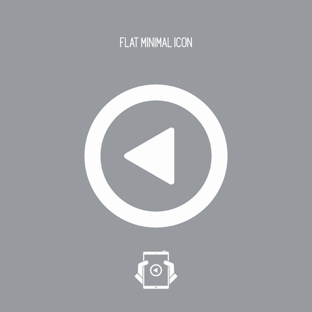 reverse: Rewind player button icon Illustration