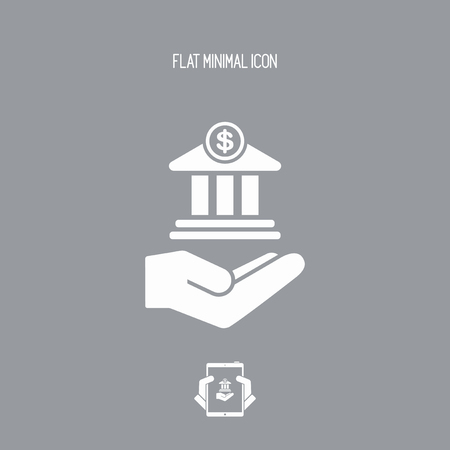 lending: Bank services - Minimal vector flat icon