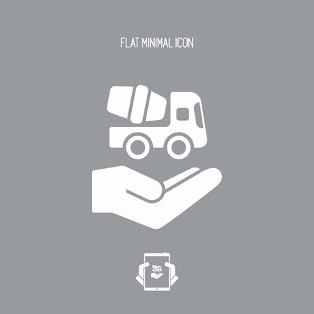 Building concept - Minimal vector icon Illustration