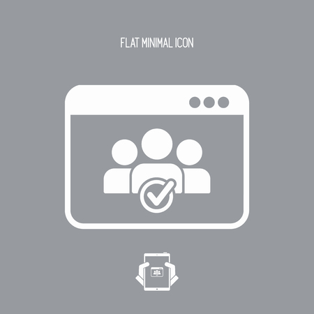 Check computer contacts icon Illustration