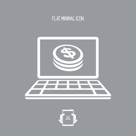 remuneration: Money web service - Dollars Illustration