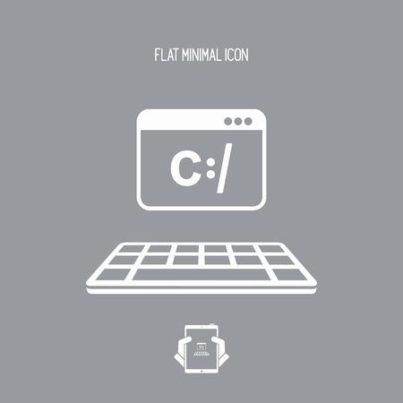 operative: Programming software - Vector flat minimal icon