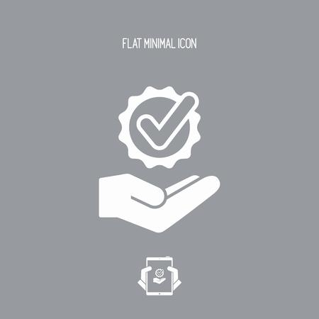 Oferta de servicios - Check mejor opción - icono Mínimo Ilustración de vector