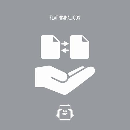 Oferta de serviço - Transferência de arquivos - ícone mínimo