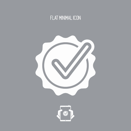 Checking quality symbol icon Illustration