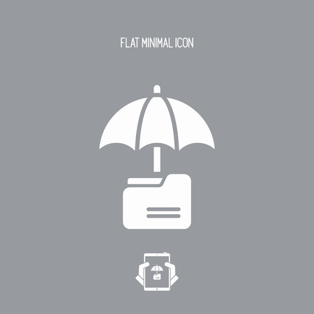 classified: Secure folder - Minimal vector icon