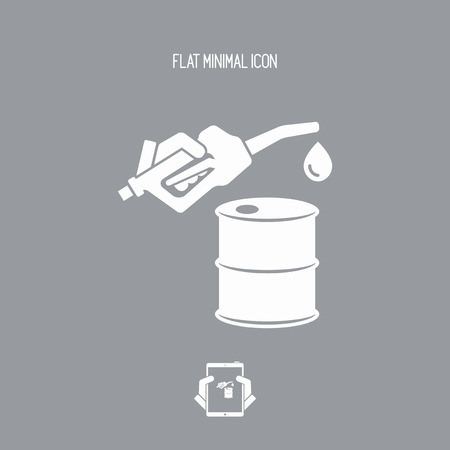 oil and gas industry: Fuel barrel flat icon