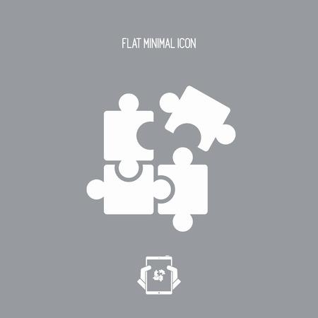 unbiased: Team united strategy - Vector flat minimal icon Illustration