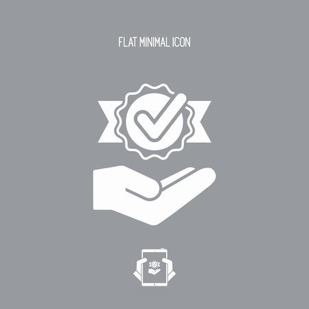 right choice: Checkmark symbol - Minimal modern icon