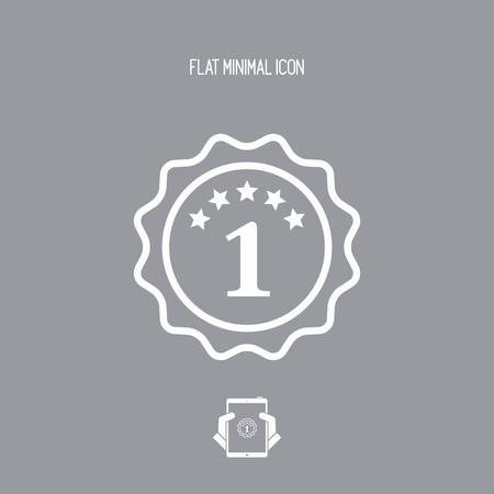 one year warranty: Number one symbol icon