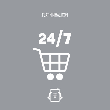 sop: 724 shopping - Vector web icon