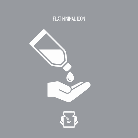 claen: Liquid for hands - Vector flat icon Illustration