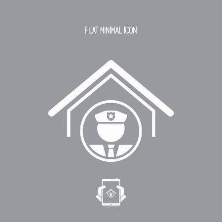 patrolman: Police and security service - Vector web icon Illustration