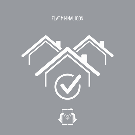 choise: Choose the perfect house - Vector web icon Illustration