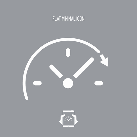 time lapse: Spending time concept - Vector web icon Illustration
