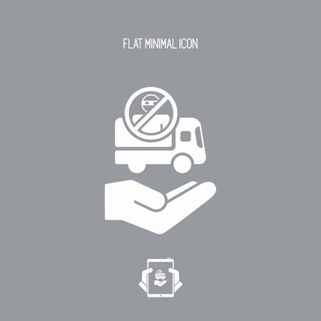 Security transport concept - Minimal icon Illustration