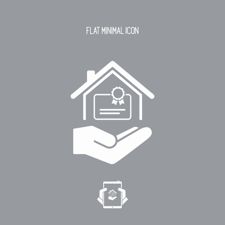 qualify: Home certification services - Vector icon