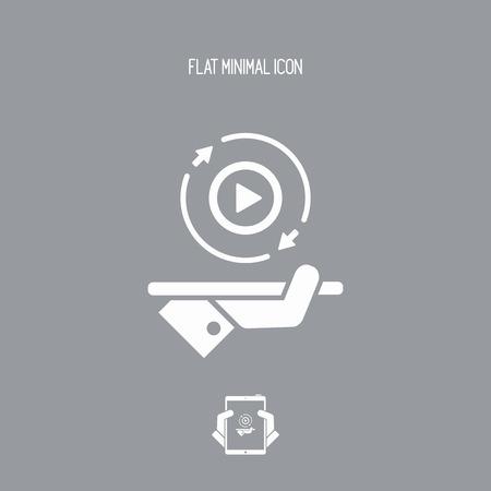 完全なマルチ メディア サービス 247 - ベクターの web アイコン