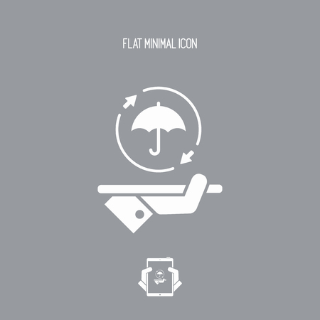 refuge: Steady full protection service - Vector web icon Illustration