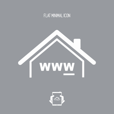 house for sale: Real estate agency online - Vector web icon Illustration