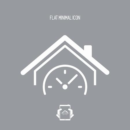 Last minute promo - House and hotel - Vector web icon Vetores