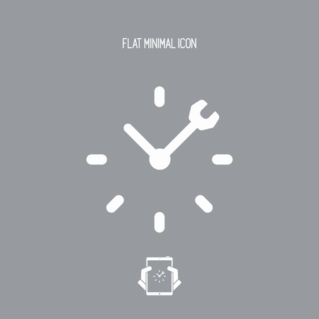 top seven: Full time technical assistance services - Vector web icon
