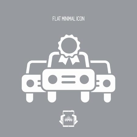qualify: Car certificate concept - Vector icon