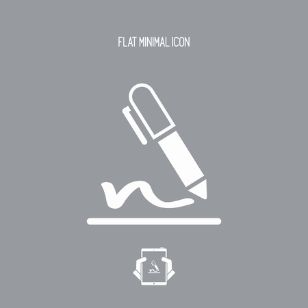 Signature concept - Vector web icon