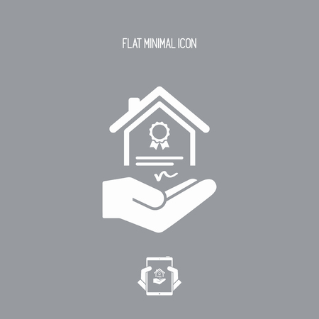 house for sale: House certification services - Vector icon Illustration