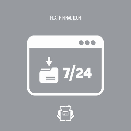 Download service 724 - Vector flat icon